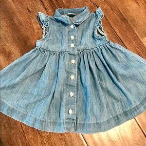 Baby Gap Denim Button-Front Dress